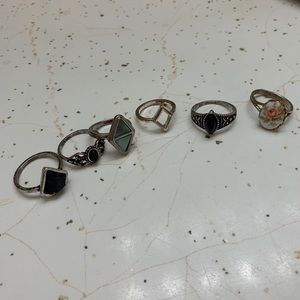 Rings all sizes mostly from forever 21